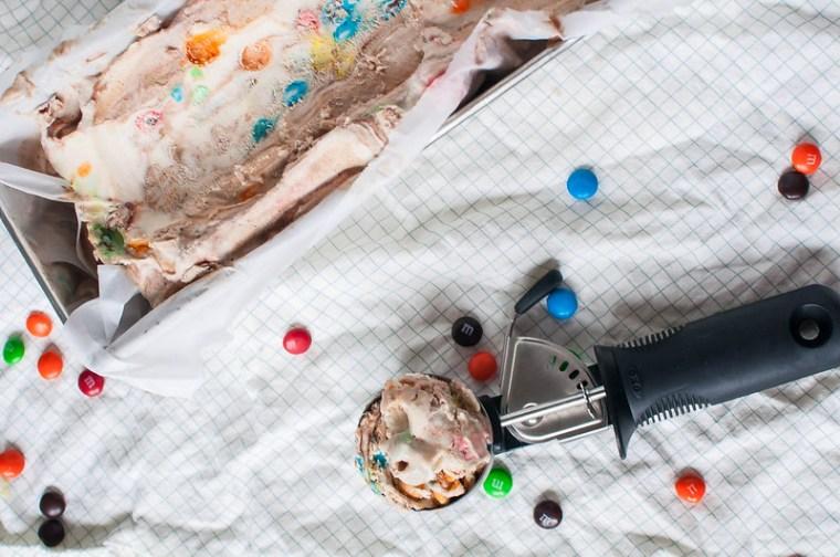 Peanut Butter Fudge Ripple M&M Ice Cream 10