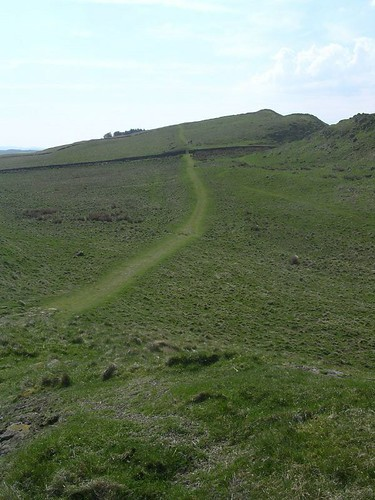 The Military Way south of the crags; a useful alternative route