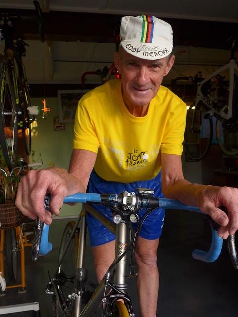 Bryan 'Eddy' Ferris ... more than 50 years as a club cyclist.