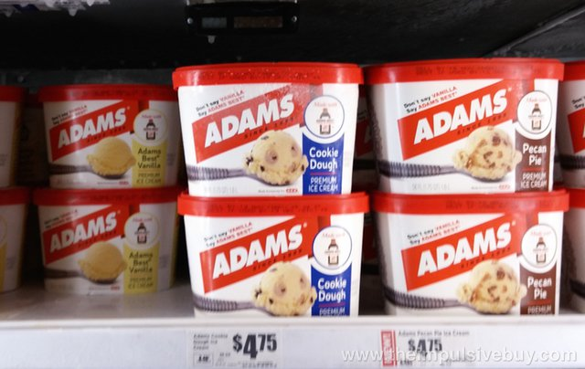 Adams Ice Cream (Adams Best Vanilla, Cookie Dough, and Pecan Pie)