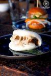 Sydney Food Blog Review of Junk Lounge at Cruise Bar, Circular Quay: Black bean beef rib with kimchi steam bun, $6