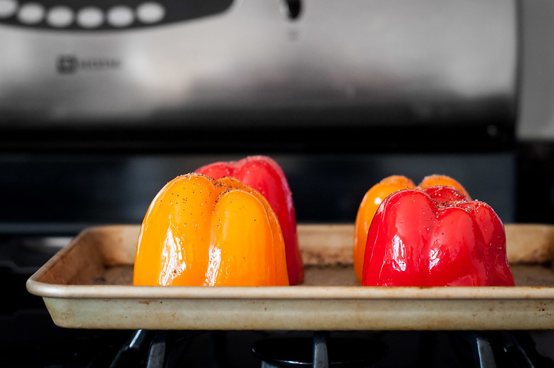 How to roast bell peppers for stuffing
