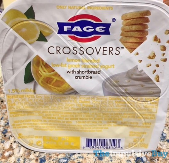 Fage Crossovers Lemon Greek Yogurt with Shortbread Crumble