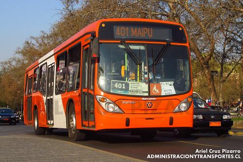 Transantiago - Express de Santiago Uno (U4) - Marcopolo Gran Viale / Scania (FLXC21)