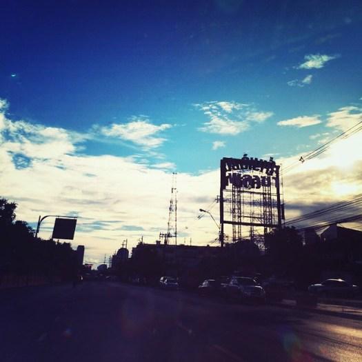 earlier this evening #Bangkok #Thailand #traffic #signs