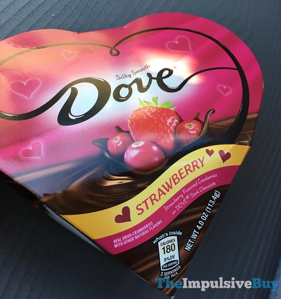 Dove Dark Chocolate Covered Strawberry Flavored Cranberries Heart