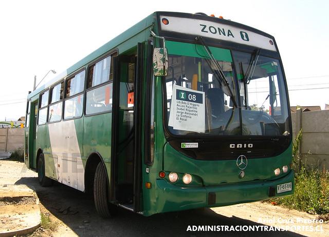 Transantiago - Comercial Nueva Milenio / Buses Vule - Caio Apache S21 / Mercedes Benz (VT6566)