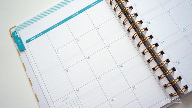 Day Designer Gold Stripe Weekly/Monthly 6 x 8 Planner