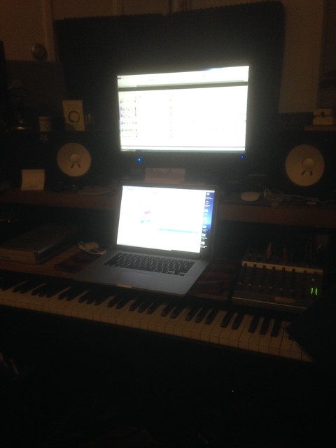 Banging out charts in the studio. :)