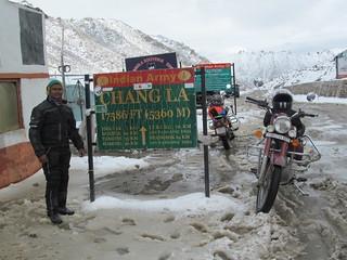 Ritesh at Chang La in Leh