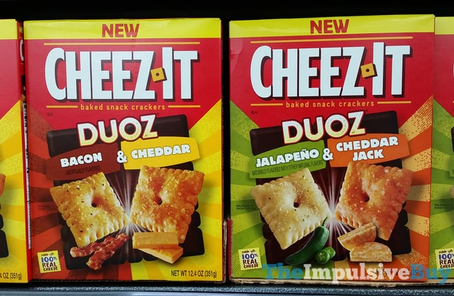 Cheez-It Duoz (Bacon & Cheddar and Jalapeno & Cheddar Jack)