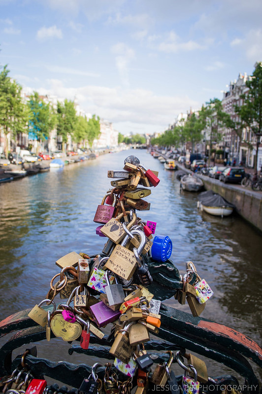 Love Locks Canal Amsterdam