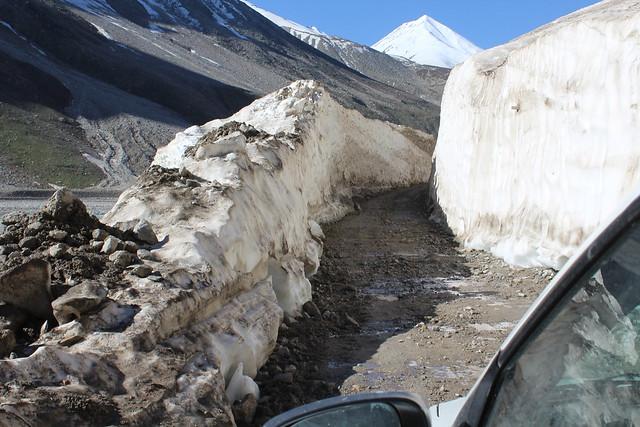 Snow cut Road