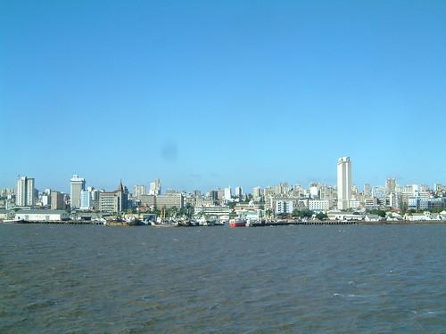 Maputo skyline from cruiseship East Africa