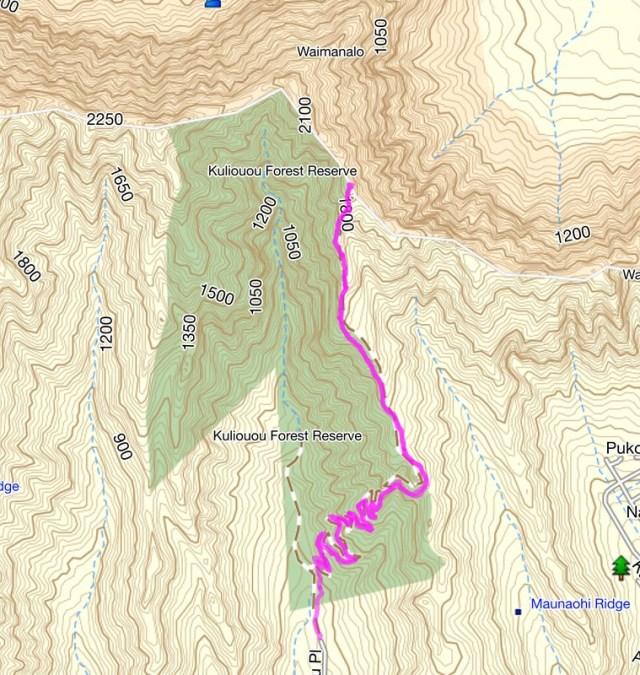 Kuli'ou'ou Ridge Trail Map