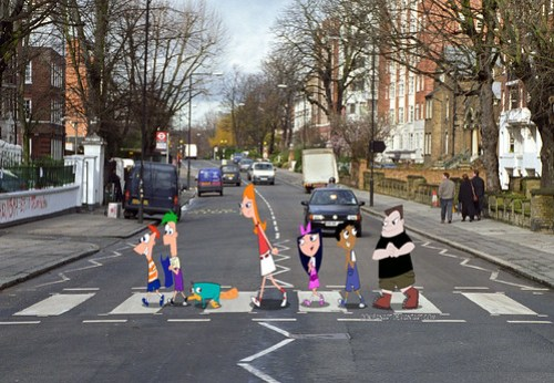 Phineas and Ferb on Abbey Road