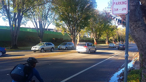 Homestead Road part time bike lane