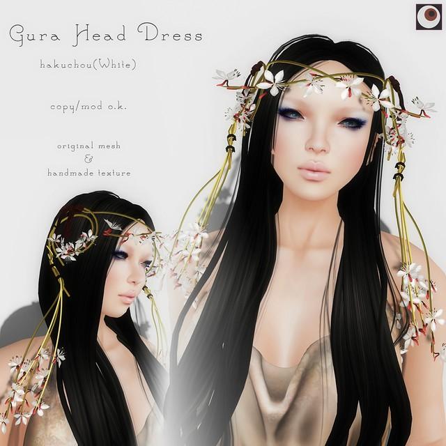*NAMINOKE*Gaura Head Dress White