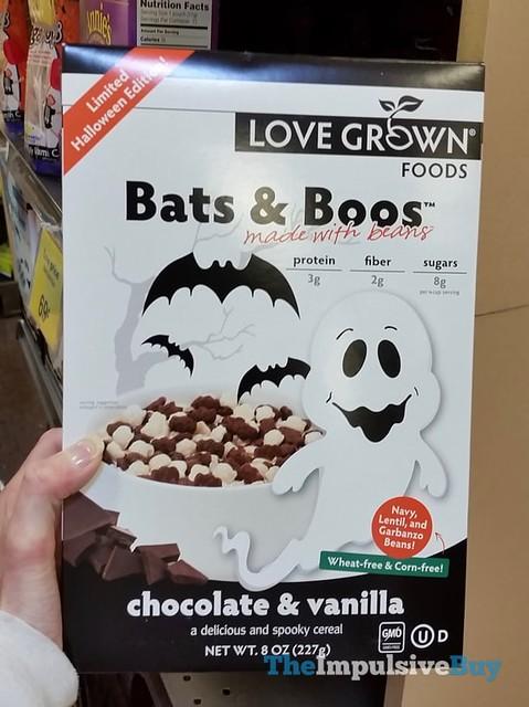 Love Grown Foods Bats & Boos Chocolate & Vanilla Cereal