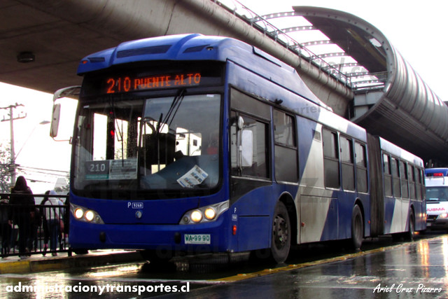Transantiago - Subus Chile - Caio Mondego LA / Volvo (WA9990) (9268)