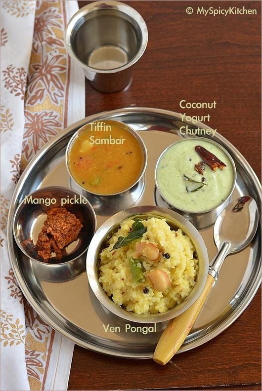 Blogging Marathon, Buffet On Table, tiffin sambar, moong dal sambar, green gram sambar, pesaru pappu sambar,  Tamil Food, Tamil Cuisine,