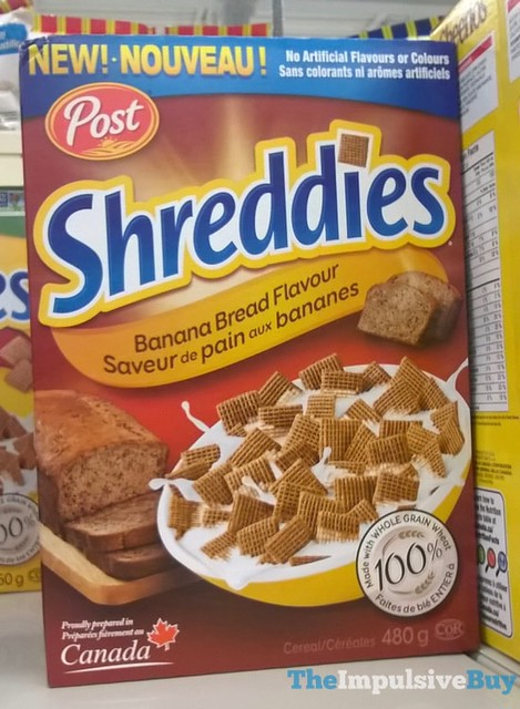 Post Banana Bread Shreddies Cereal