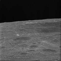 Lunar horizon seen by SMART-1 a few hours before impact