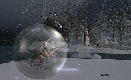 boule de neige....Un ange