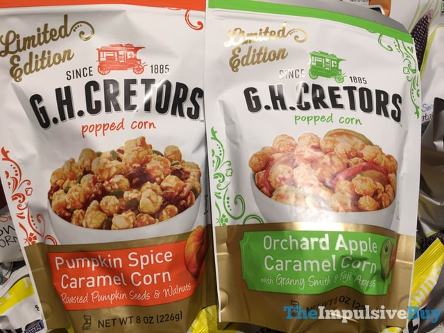 Limited Edition G.H. Cretors Pumpkin Spice and Orchard Apple Caramel Corn