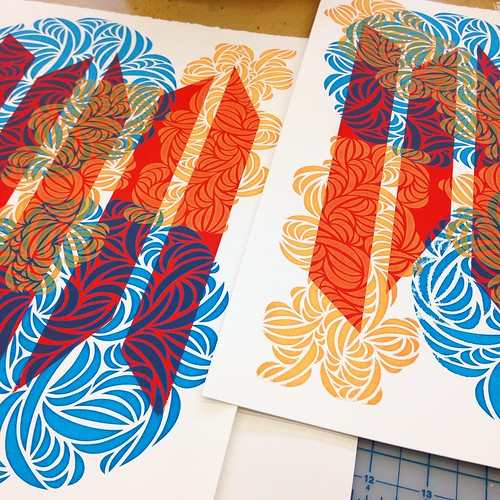 Crazy colourful screen prints