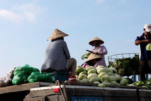 Mercados flotantes Delta del Mekong
