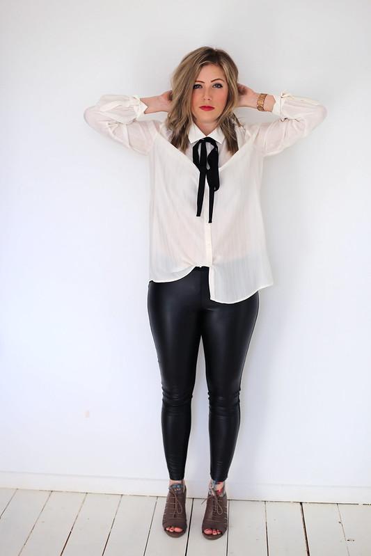 #NextTake12 Next Tie Neck Blouse Outfit Post
