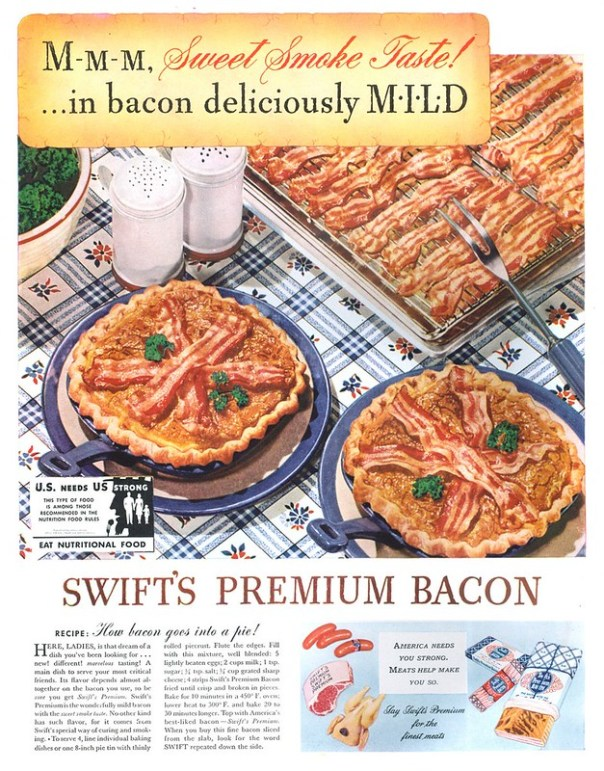 Swift's Premium Bacon - published in Life - August 10, 1942