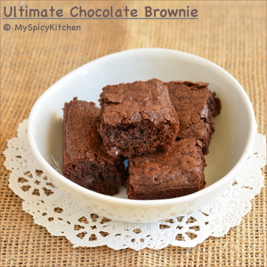 Blogging Marathon, Buffet on Table, Chocolate chip brownie, Ultimate Chocolate Brownie, Brownie