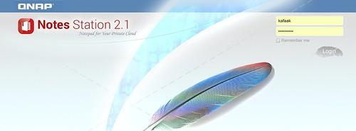 หน้าล็อกอินของ QNAP Note Statoin