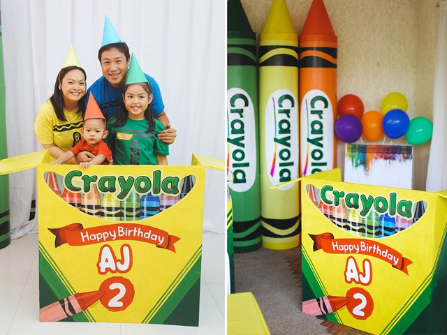 Aj S Crayons Themed Party 2nd Birthday Party Doll Manila