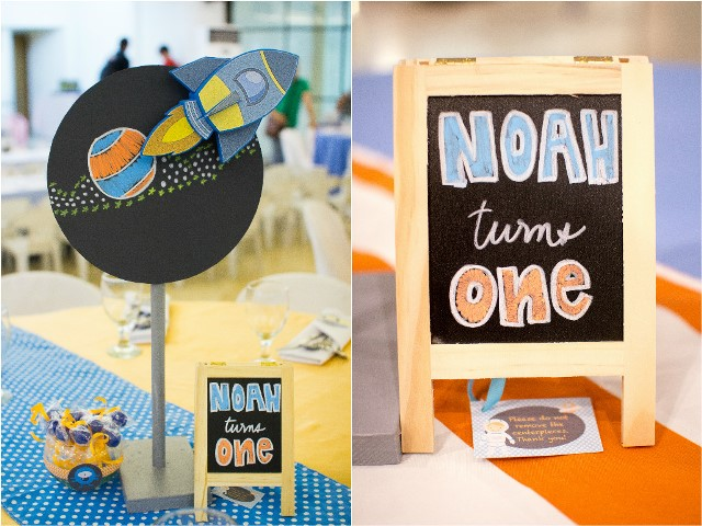 Noah s outer space themed party st birthday