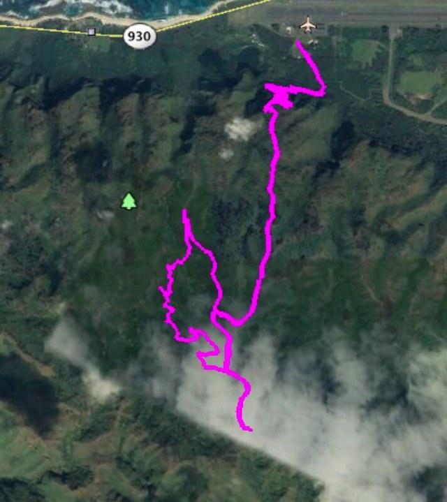 Kealia Trail Loop Map