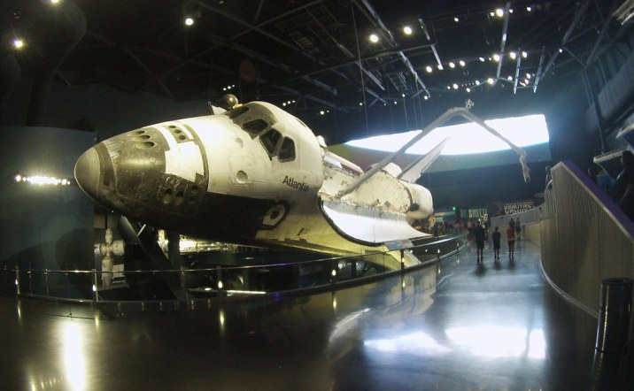 Space Shuttle Atlantis Exhibit - Kennedy Space Center Visitor Complex, Florida, Oct. 10, 2015