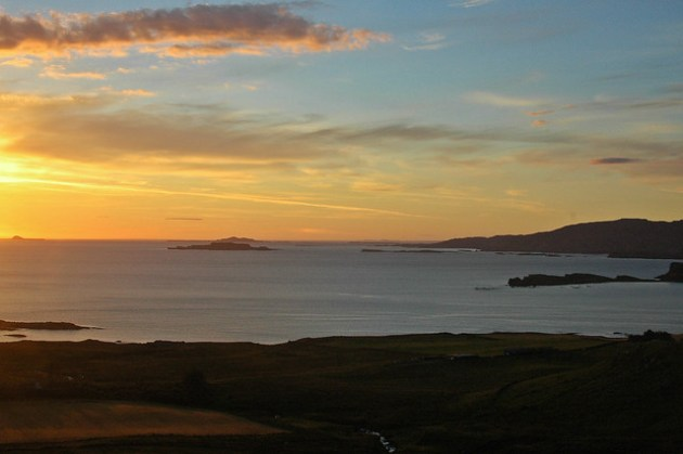 Sunset Over Treshnish Isles