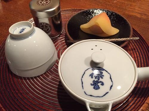 次に、煎茶セットを頼みました。