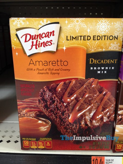 Duncan Hines Limited Edition Amaretto Decadent Brownie Mix