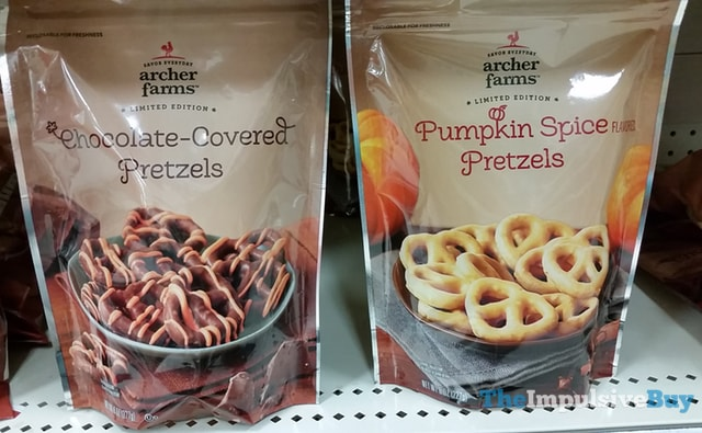Archer Farms Limited Edition Chocolate Covered Pretzels and Pumpkin Spice Pretzels