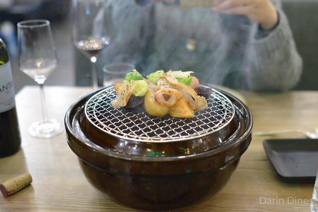 Donabe Smoked Hiramasa Pastrami Beet, Potato, Rye, Thousand Island