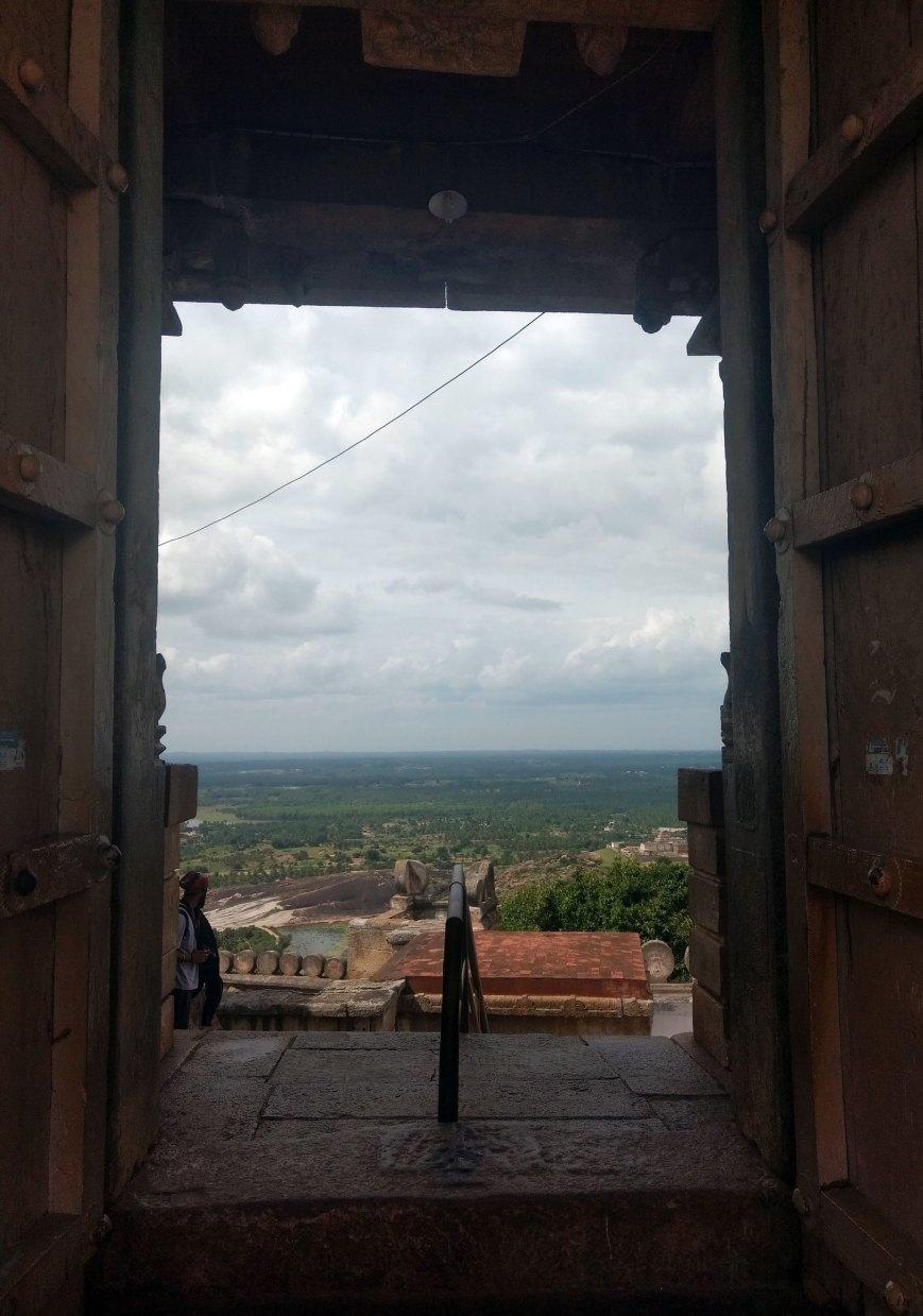 The Big Door at Shravanabelagola Temple - Vindhyagiri Hill