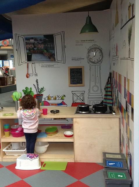 Fab kitchen at explora Rome children museum