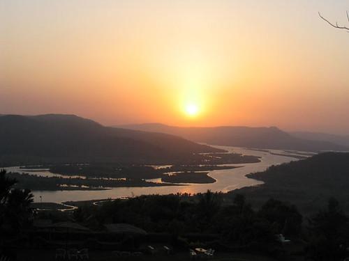 Chiplun - sunset on Vashishti river