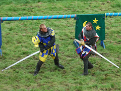Knights dueling at Belvoir Castle Fall 2004