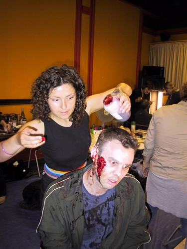 Shaun of the Dead: Graham getting made up
