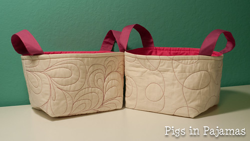 Pink quilted one hour baskets